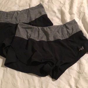 TWO PAIRS BCG exercise shorts
